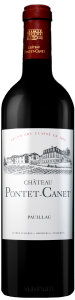 Complementary view of the bottle of Château Pontet-Canet 2017. To buy this wine or to see the file, click on the image