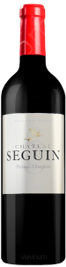 Complementary view of the bottle of Château Seguin 2015. To buy this wine or to see the file, click on the image