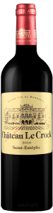 Complementary view of the bottle of Château Le Crock 2010. To buy this wine or to see the file, click on the image