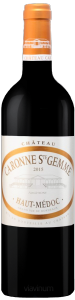 Complementary view of the bottle of Château Caronne Ste Gemme 2015. To buy this wine or to see the file, click on the image