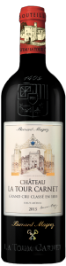 Complementary view of the bottle of Château La Tour Carnet 2016. To buy this wine or to see the file, click on the image