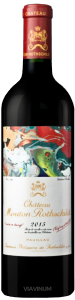Complementary view of the bottle of Château Mouton Rothschild 2015. To buy this wine or to see the file, click on the image