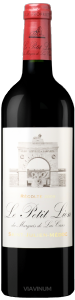 Complementary view of the bottle of Le Petit Lion du Marquis de Las-Cases 2009. To buy this wine or to see the file, click on the image