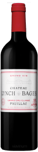 Complementary view of the bottle of Château Lynch-Bages 2016. To buy this wine or to see the file, click on the image