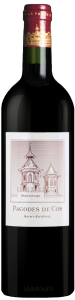 Complementary view of the bottle of Les Pagodes de Cos 2016. To buy this wine or to see the file, click on the image