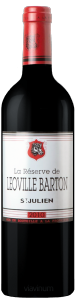 Complementary view of the bottle of La Réserve de Léoville Barton 2010. To buy this wine or to see the file, click on the image