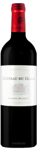 Complementary view of the bottle of Château Du Glana 2016. To buy this wine or to see the file, click on the image