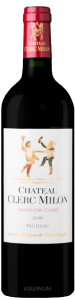 Complementary view of the bottle of Château Clerc Milon 2016. To buy this wine or to see the file, click on the image