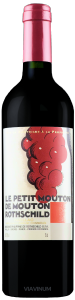 Complementary view of the bottle of Le Petit Mouton de Mouton-Rothschild 2016. To buy this wine or to see the file, click on the image