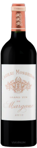 Complementary view of the bottle of Château Monbrison 2010. To buy this wine or to see the file, click on the image
