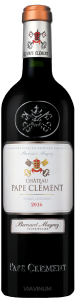 Complementary view of the bottle of Château Pape-Clément 2016. To buy this wine or to see the file, click on the image
