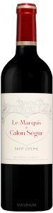 Complementary view of the bottle of Le Marquis de Calon-Ségur 2016. To buy this wine or to see the file, click on the image