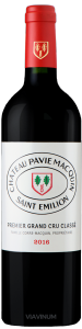 Complementary view of the bottle of Château Pavie Macquin 2016. To buy this wine or to see the file, click on the image