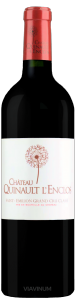 Complementary view of the bottle of Château Quinault L'Enclos 2016. To buy this wine or to see the file, click on the image