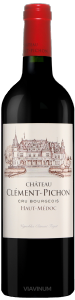 Complementary view of the bottle of Château Clément Pichon 2016. To buy this wine or to see the file, click on the image