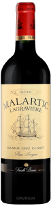 Complementary view of the bottle of Château Malartic Lagravière Rouge 2016. To buy this wine or to see the file, click on the image